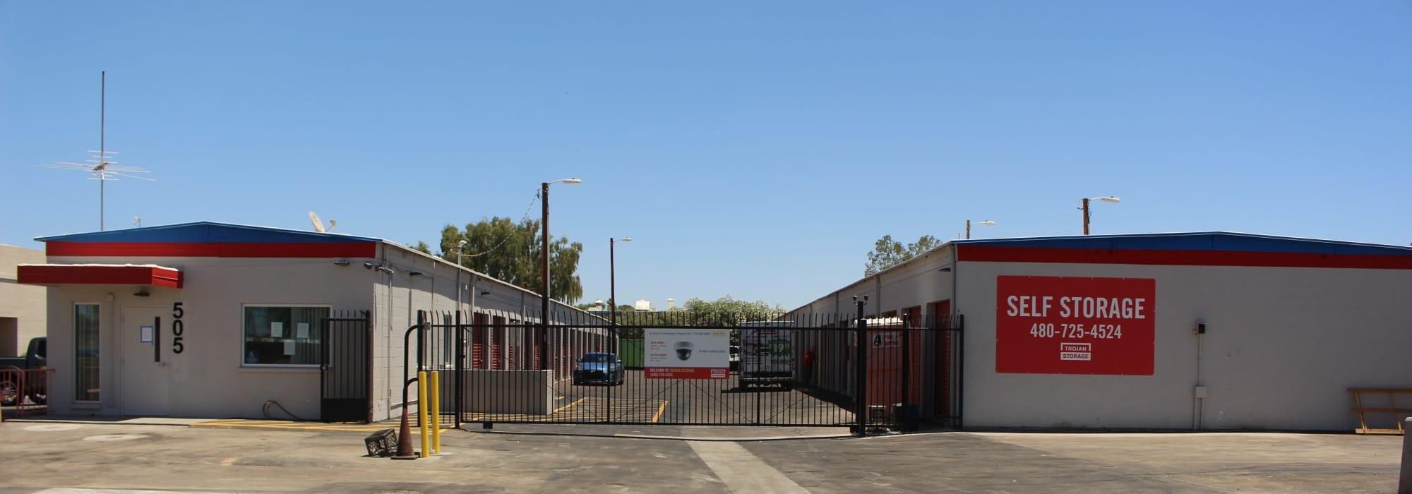 Self storage at Trojan Storage in Tempe Arizona