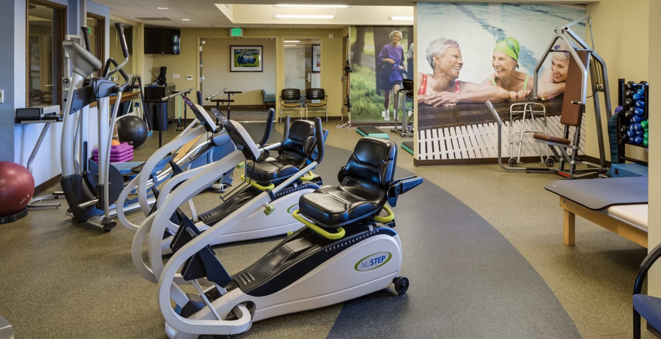 Fitness center for residents at The Reserve at Thousand Oaks in Thousand Oaks, California