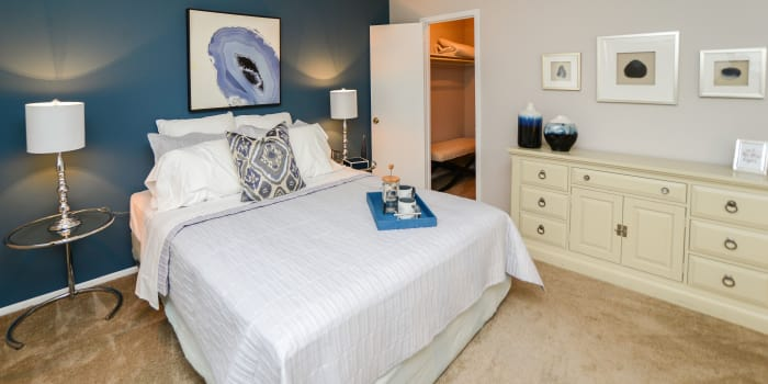 Enjoy a beautiful bedroom at Brookside Manor Apartments & Townhomes