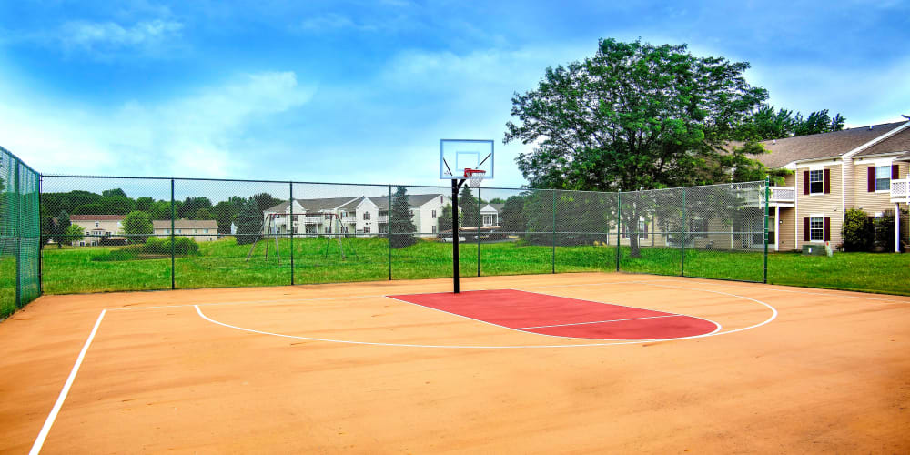 basketball court at 1820 South Apartments in Mount Pleasant, Michigan