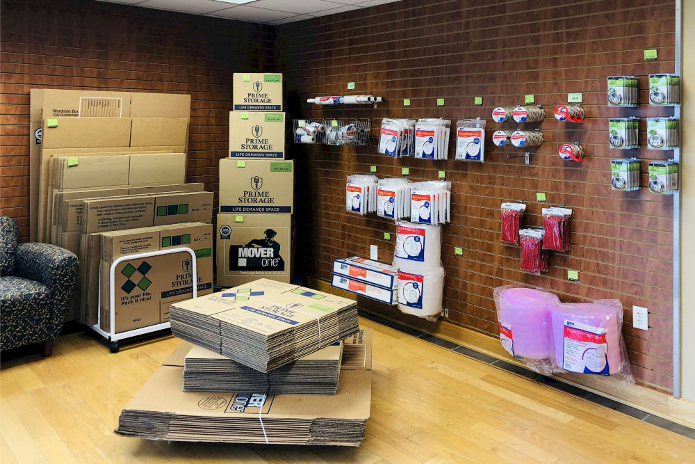 Packing materials available for purchase at Climatrol Self Storage in Williamsburg, Virginia