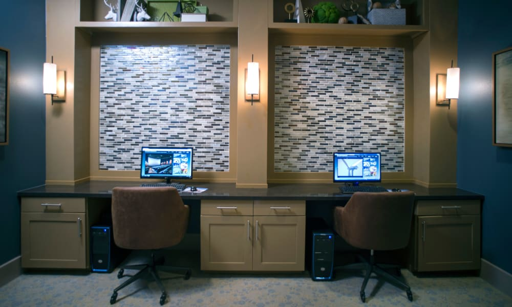Resident business center at Savannah Oaks in San Antonio, Texas