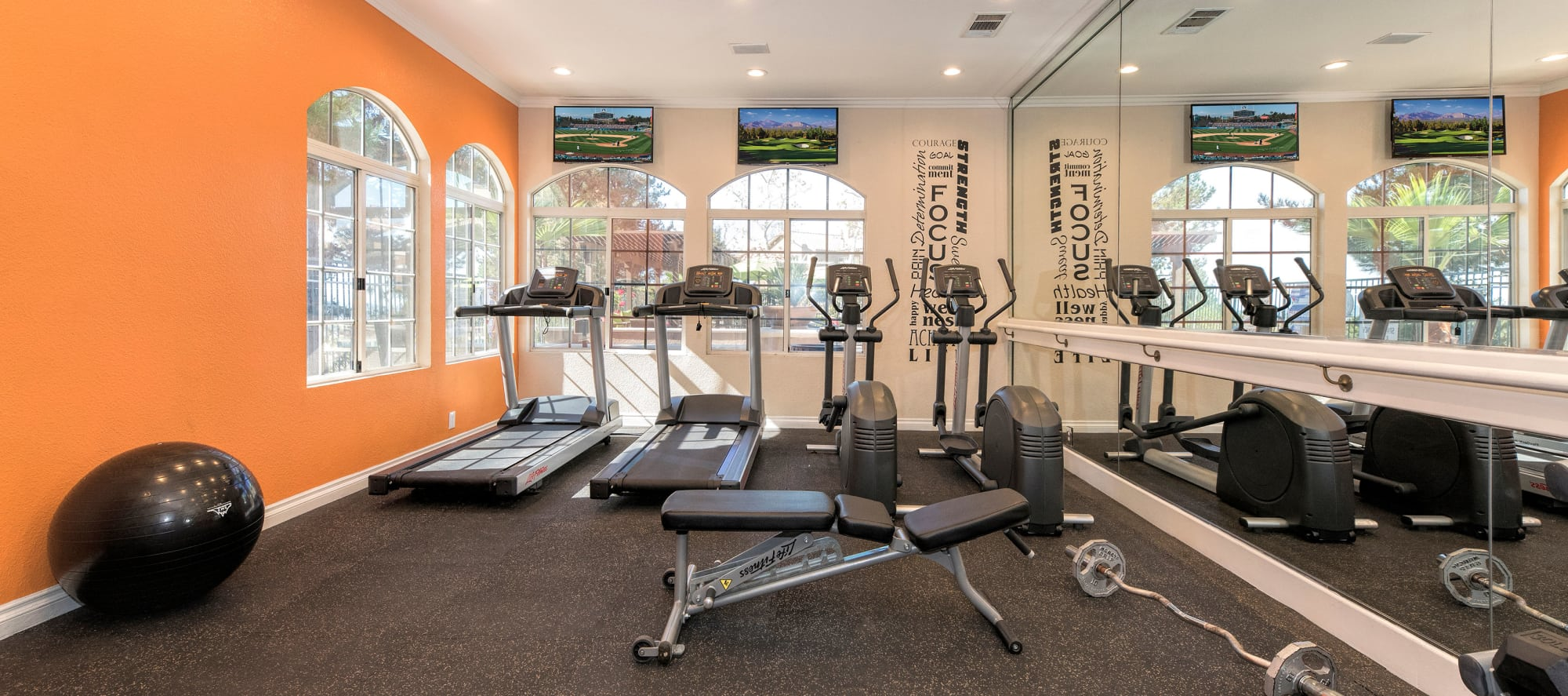 Workout equipment at Paloma Summit Condominium Rentals in Foothill Ranch, CA