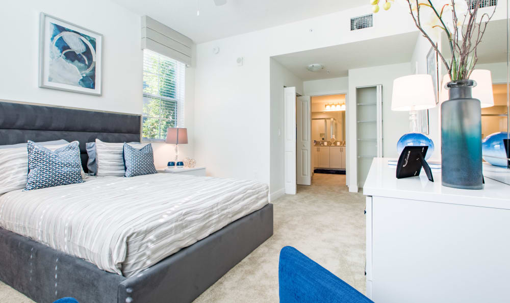 Spacious bedroom at Luma at Miramar in Miramar, Florida