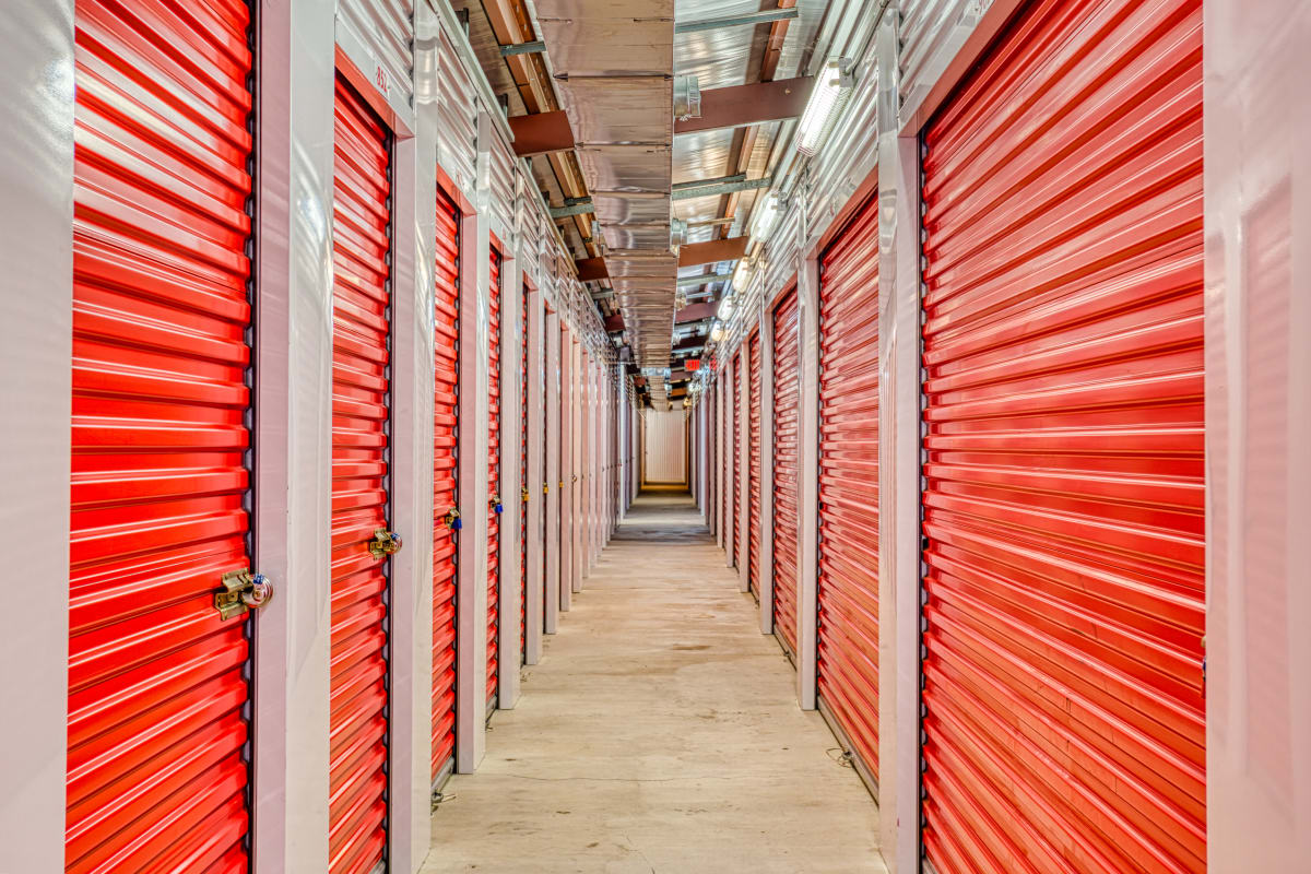 Climate-controlled storage units at Devon Self Storage in Pasadena, Texas