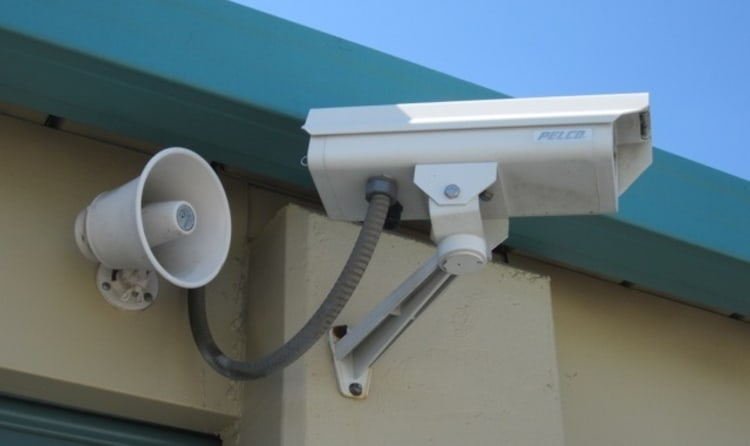 A security camera at Acorn Self Storage - Brentwood in Brentwood, California