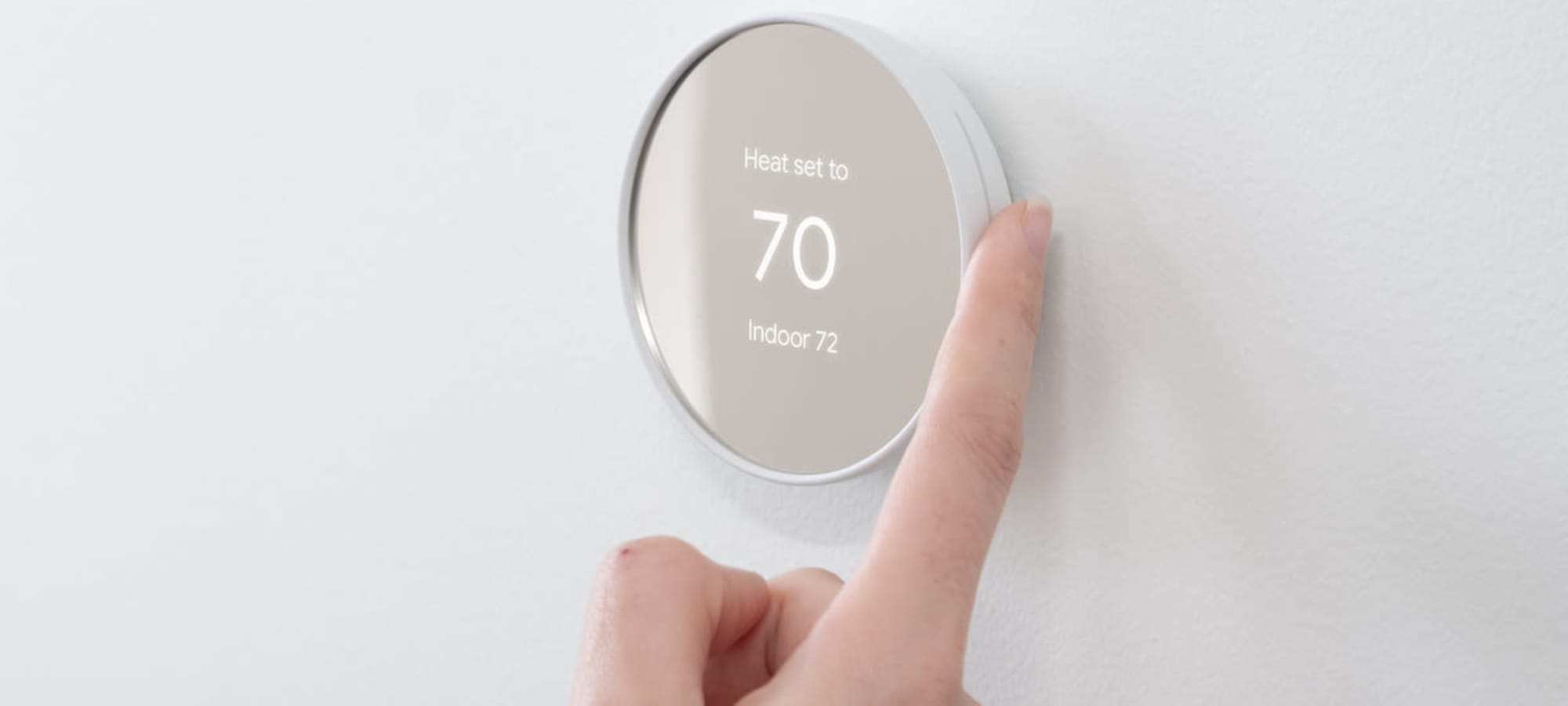 Nest thermostat in apartment home at Hudson on Farmer in Tempe, Arizona