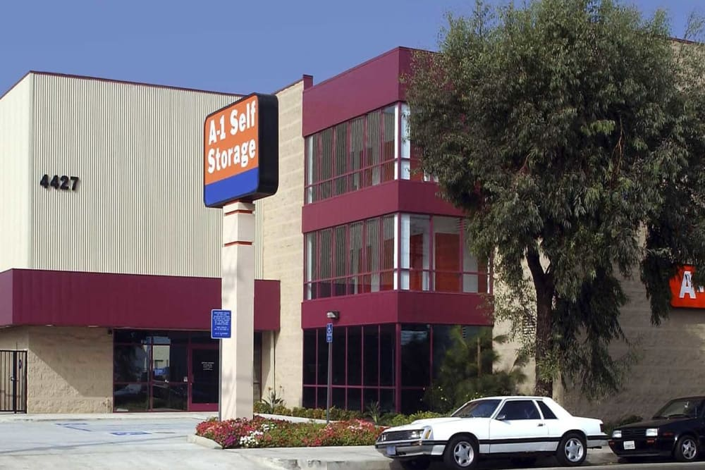 Outside of A-1 Self Storage in Glendale, California