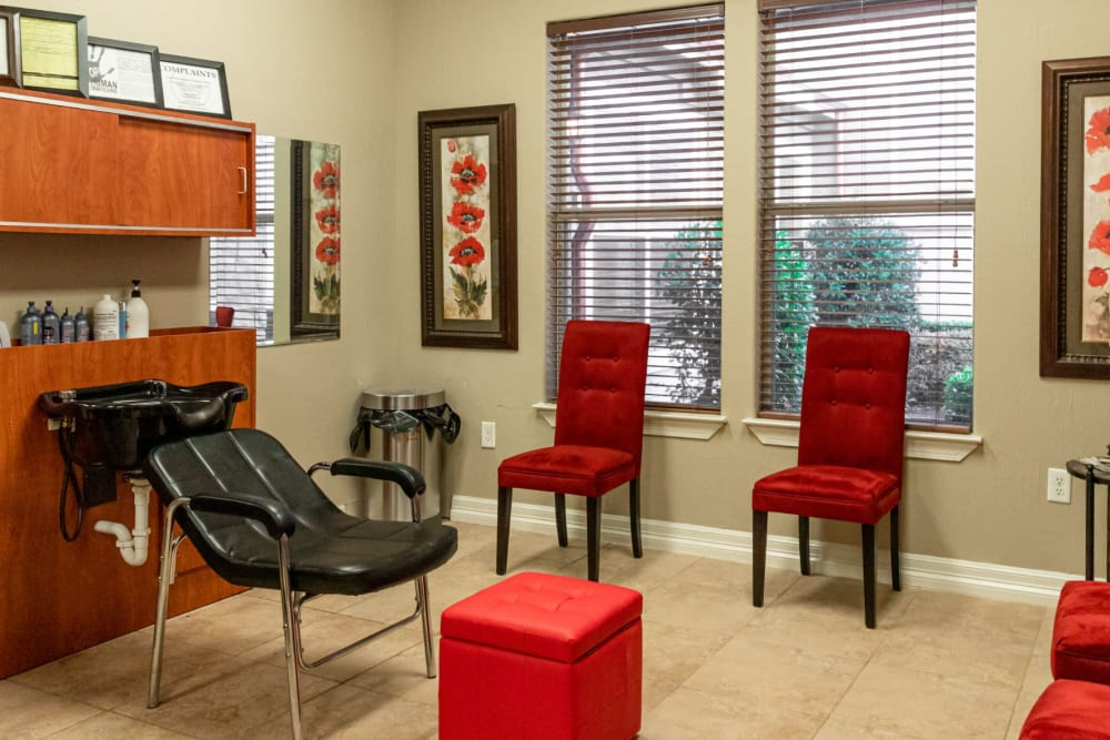 Resident salon at Marquis Rockwall in Rockwall, Texas