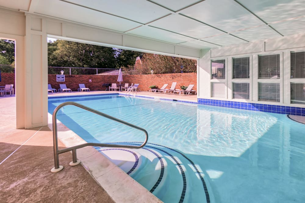 Indoor pool at The Gatsby at Midtown in Montgomery, Alabama