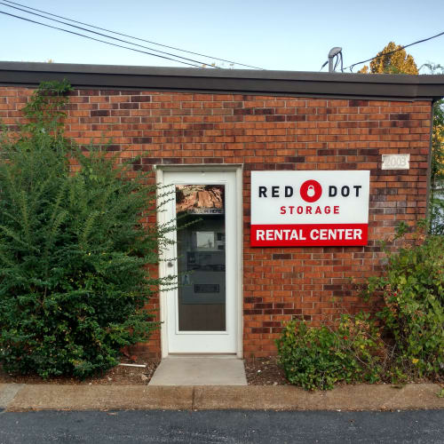 Exterior of the rental center at Red Dot Storage in Columbia, Tennessee