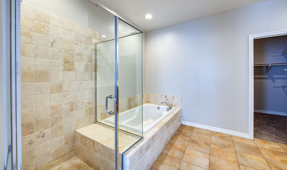 bathroom at IMT Rancho Serrano Townhomes in Thousand Oaks, CA