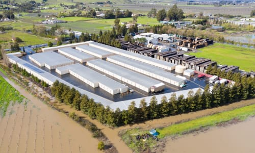 Carneros Self Storage Park in Sonoma, California self storage Aerial View