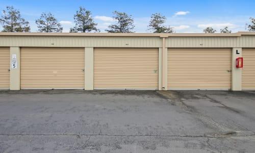 Carneros Self Storage Park in Sonoma, California Exterior Storage Units