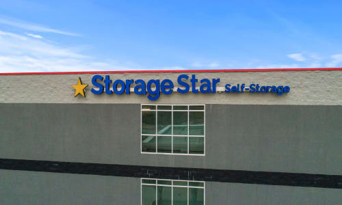 Storage Front sign at Storage Star in Plano, Texas