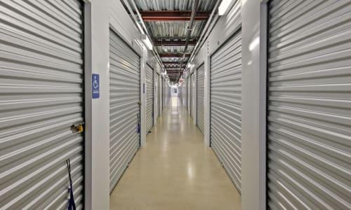 Interior Storage Units at American Value Storage in San Antonio, Texas