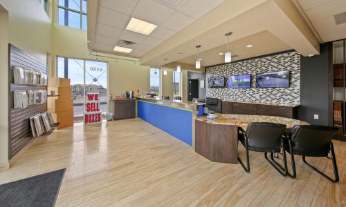 Front desk at American Value Storage in San Antonio, Texas