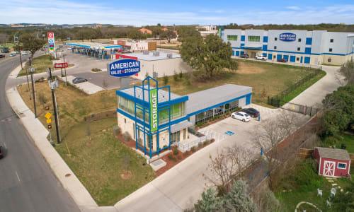 Storage Street View at American Value Storage in San Antonio, Texas