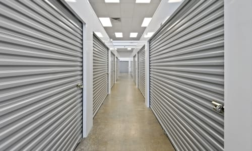 Storage Hallway at East Sac Self Storage in Sacramento, California