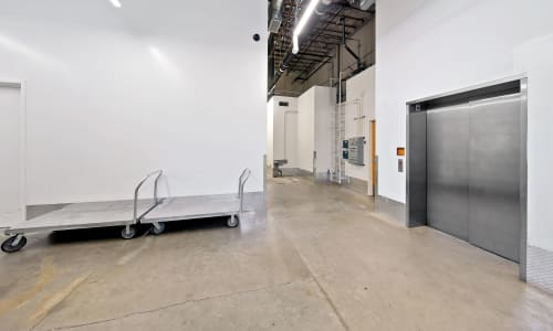 dollys and an elevator for Interior Storage Units at East Sac Self Storage in Sacramento, California