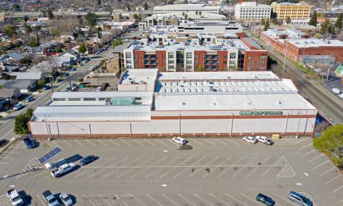 Ariel View of East Sac Self Storage in Sacramento, California