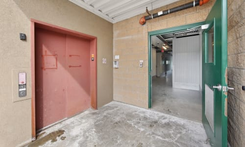 Door to interior units at Market Place Self Storage in Park City, Utah