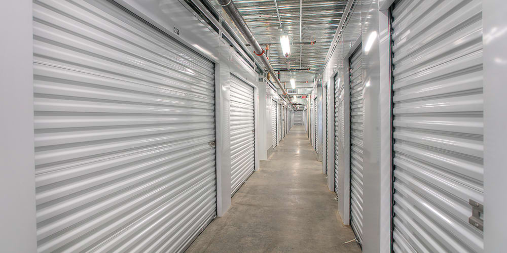 Indoor climate controlled units at StorQuest Express Self Service Storage in Castle Rock, Colorado