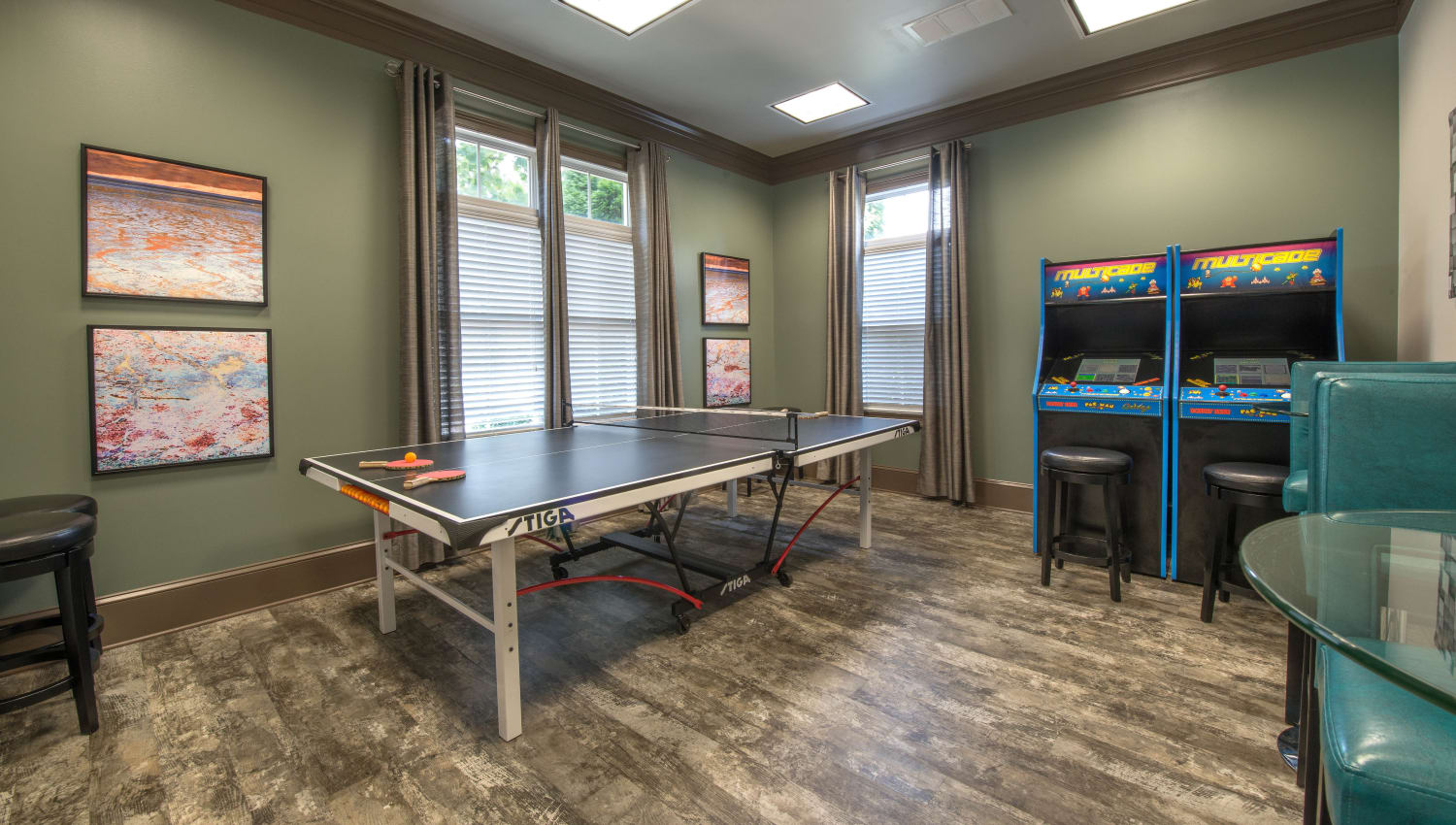 Game area at Olympus Hillwood in Murfreesboro, Tennessee