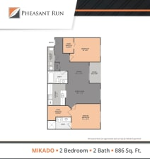 Two Bedroom, Mikado, at Pheasant Run in Michigan