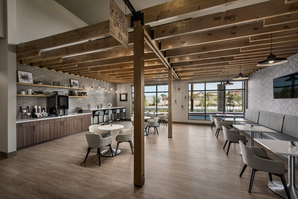 Dining area at Carnegie Heights at Henderson in Henderson, Nevada