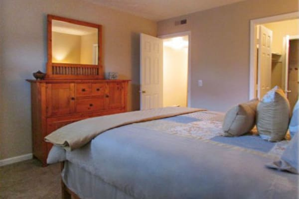 Bedroom at Hickory Creek Apartments & Townhomes in Nashville, Tennessee