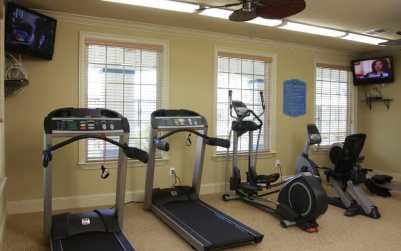 Stay healthy in the Lakeside Apartment Homes fitness center in Slidell, Louisiana
