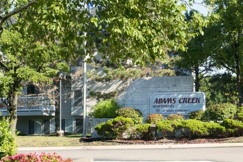 Adams Creek front entrance