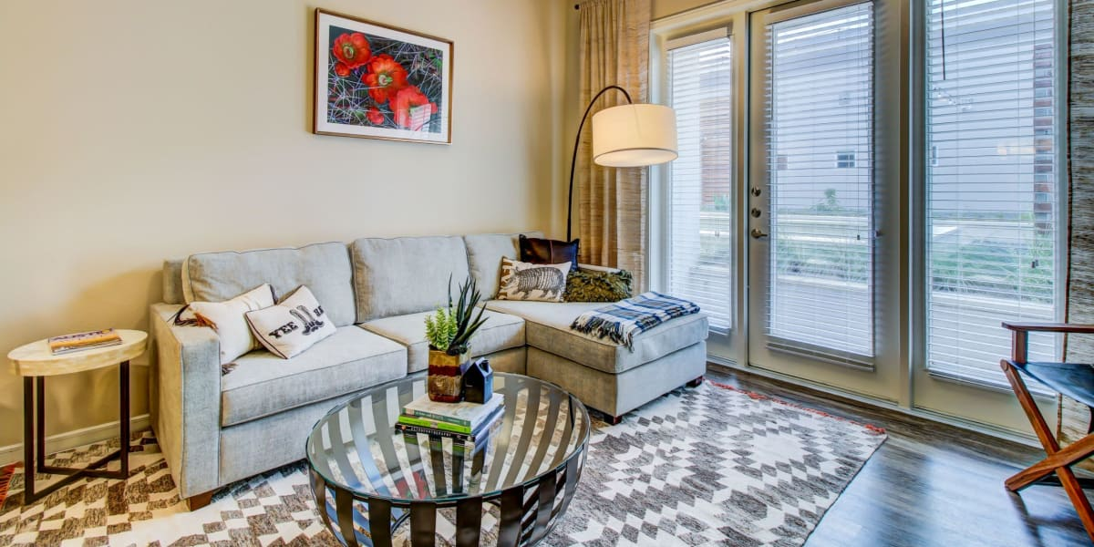 Living room at Westerly 360 in Austin, Texas