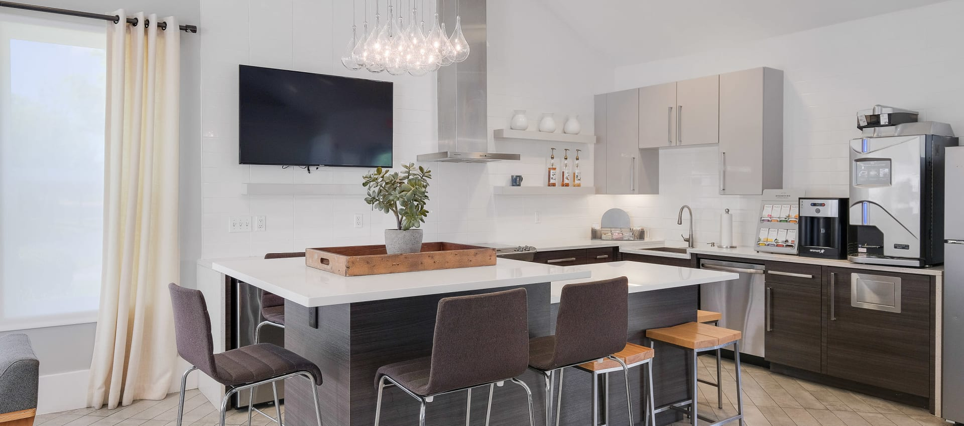 Community kitchen at Centro Apartment Homes