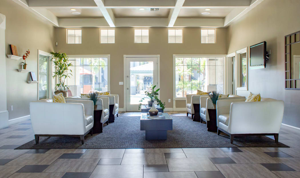 Luxurious leasing office interior at Sierra Canyon in Glendale, Arizona