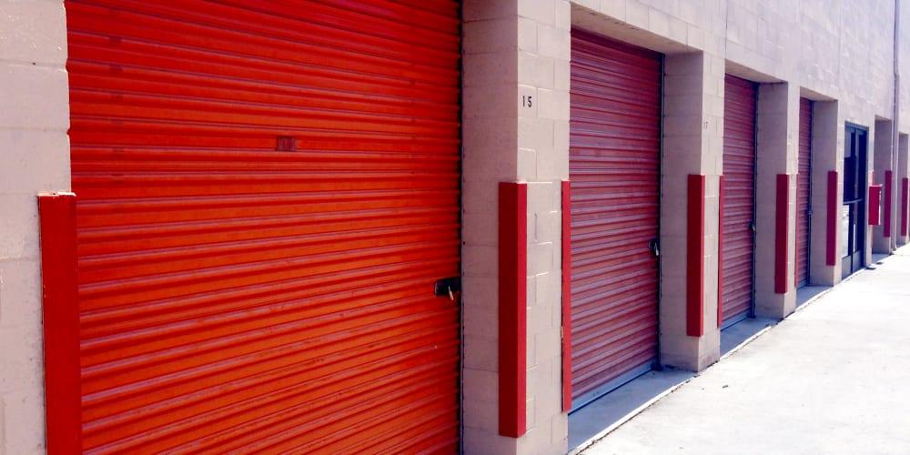 Drive up units at StorQuest Self Storage in Westlake Village, California