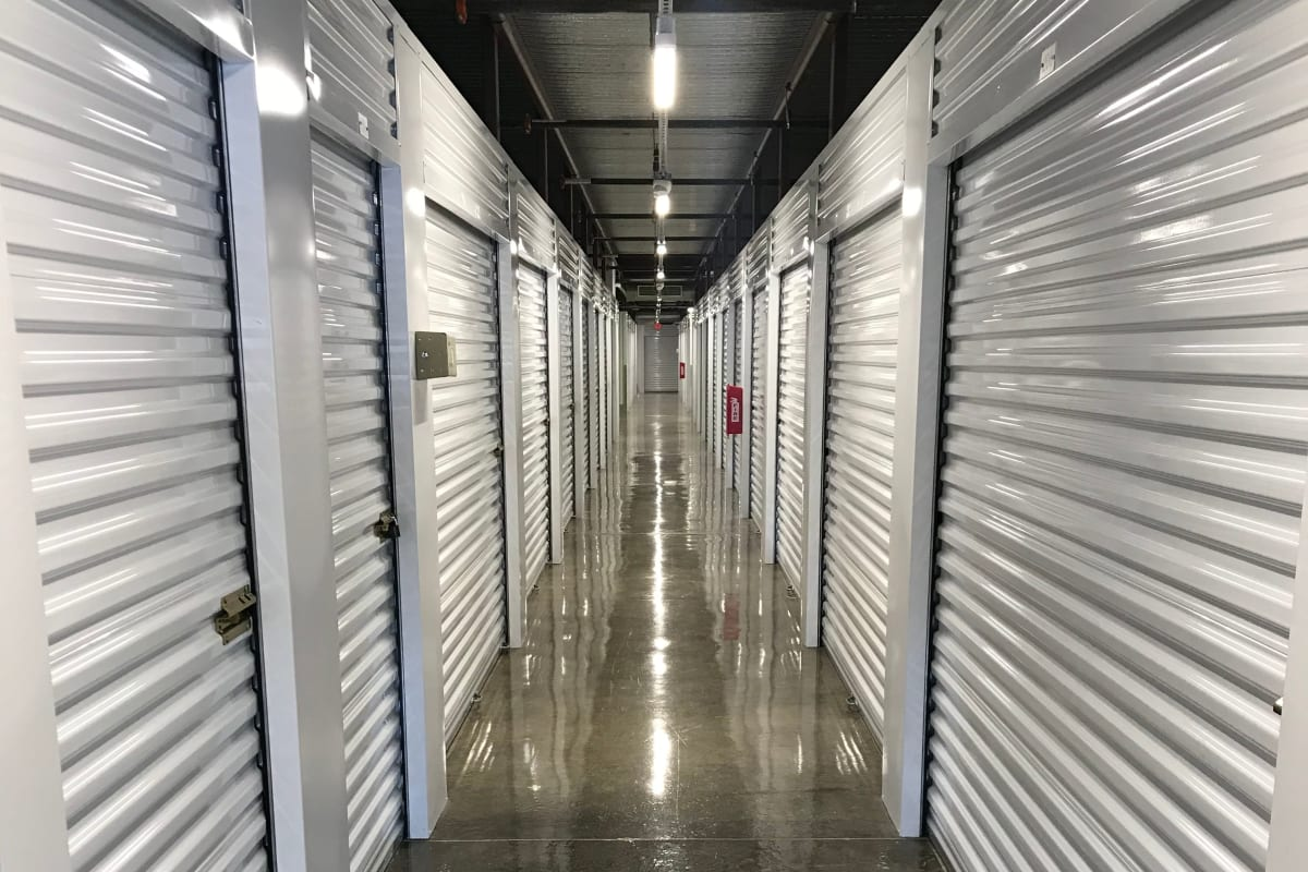 The interior storage units at Storage 365 in Irving, Texas