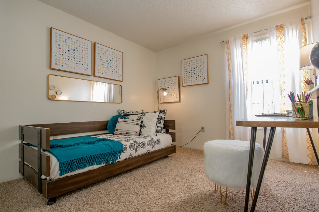 Bedroom at Council Place Apartments in Oklahoma City, Oklahoma