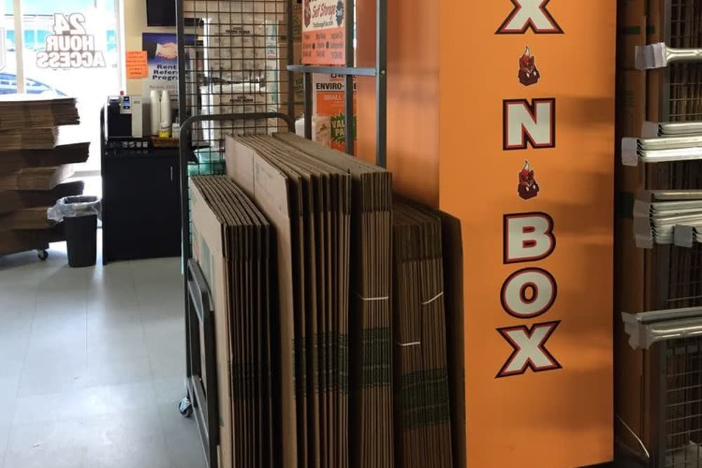 Office With Packaging Supplies For Sale At The Storage Fox In Long Island  City, New