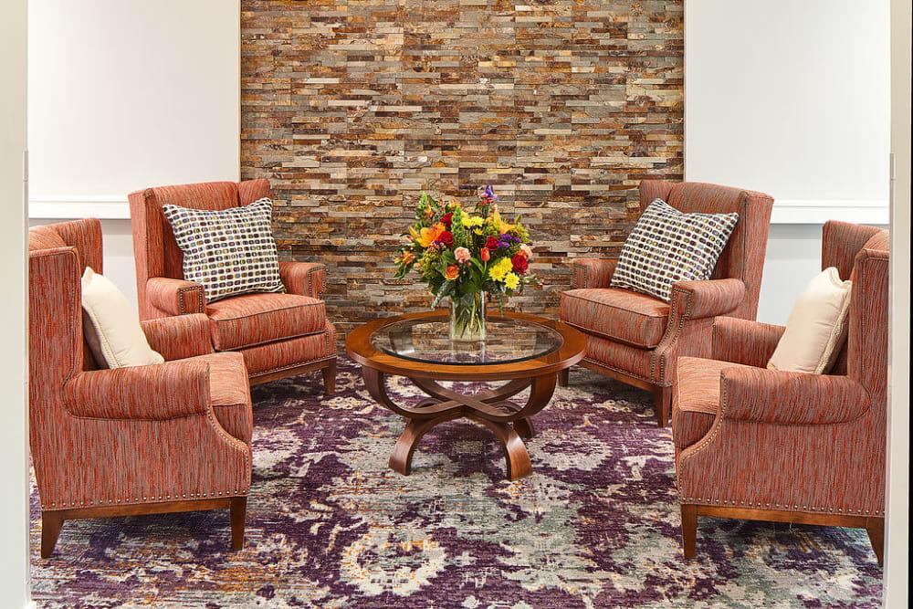 Lounge seating at Anthology of South Jordan in South Jordan, Utah