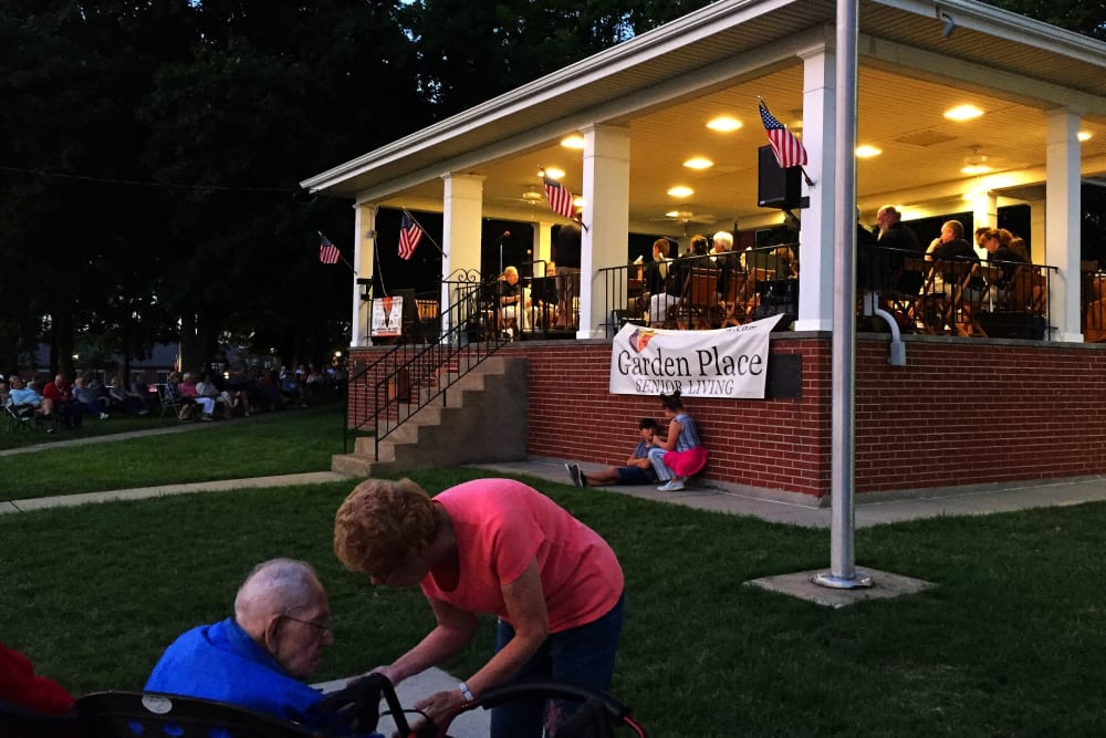 Concert at Garden Place Waterloo in Waterloo, Illinois.