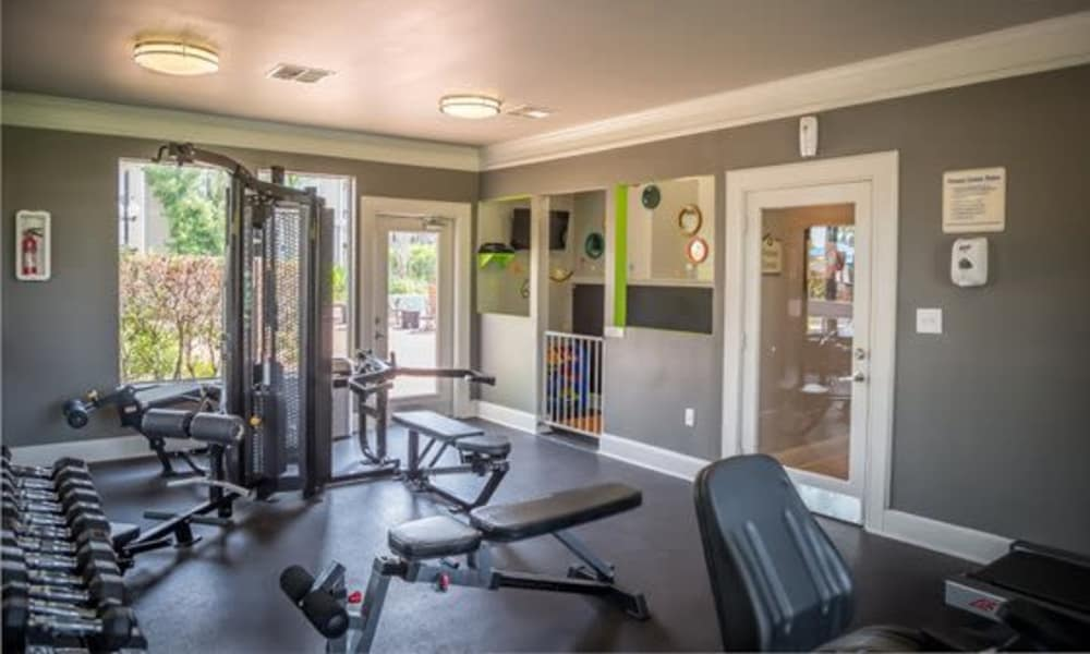 Station at Mason Creek offers a fitness center in Katy, Texas
