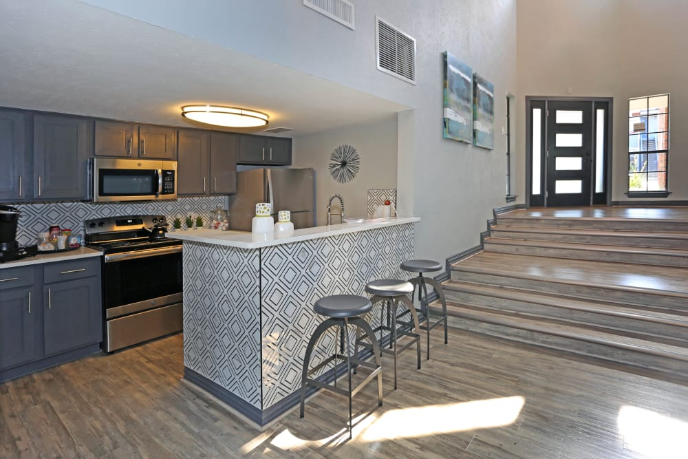 Community kitchen at 1303 Main in Duncanville, Texas