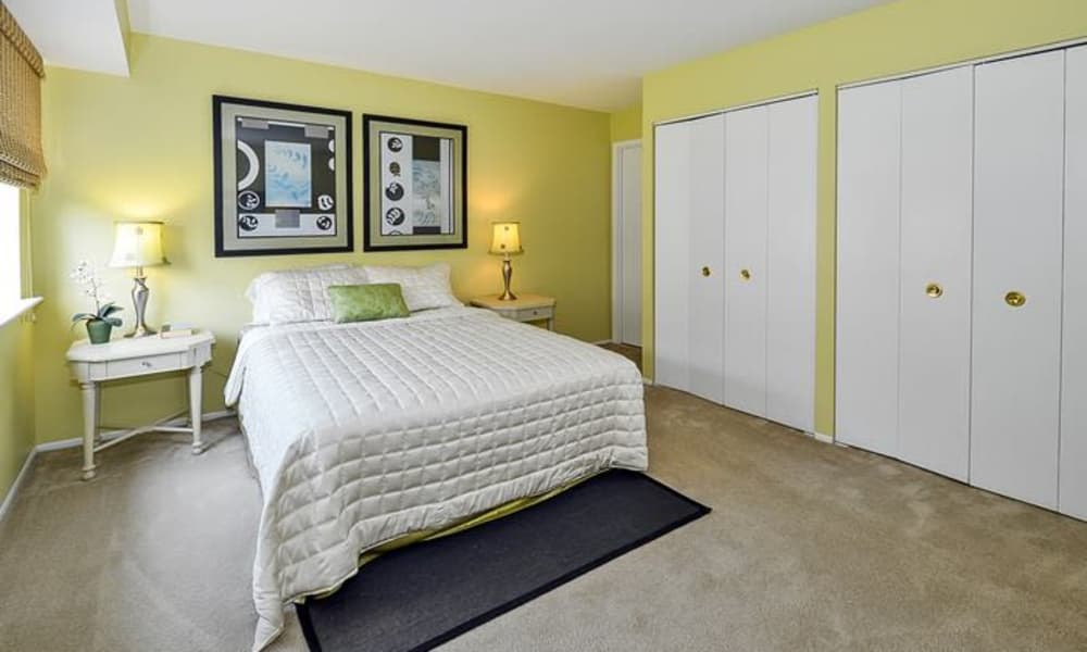 Model bedroom at Forge Gate Apartment Homes in Lansdale, Pennsylvania