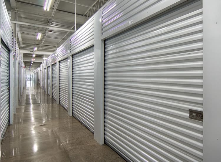 Indoor storage units at Metro Self Storage in Riverview, Florida