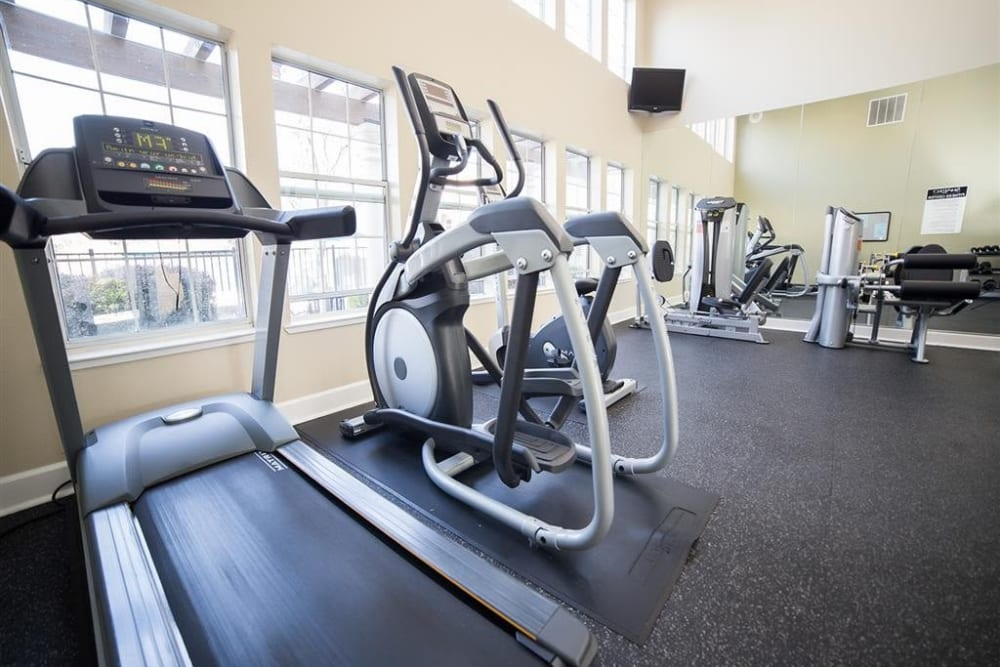 Resident fitness center at Shaliko in Rocklin, California