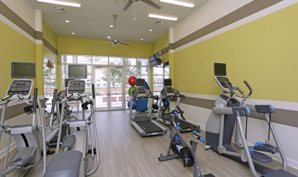 Fitness center at Springs at Six Mile Cypress in Fort Myers