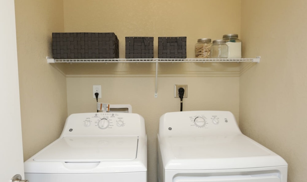 In-unit laundry at Springs at Six Mile Cypressin Fort Myers