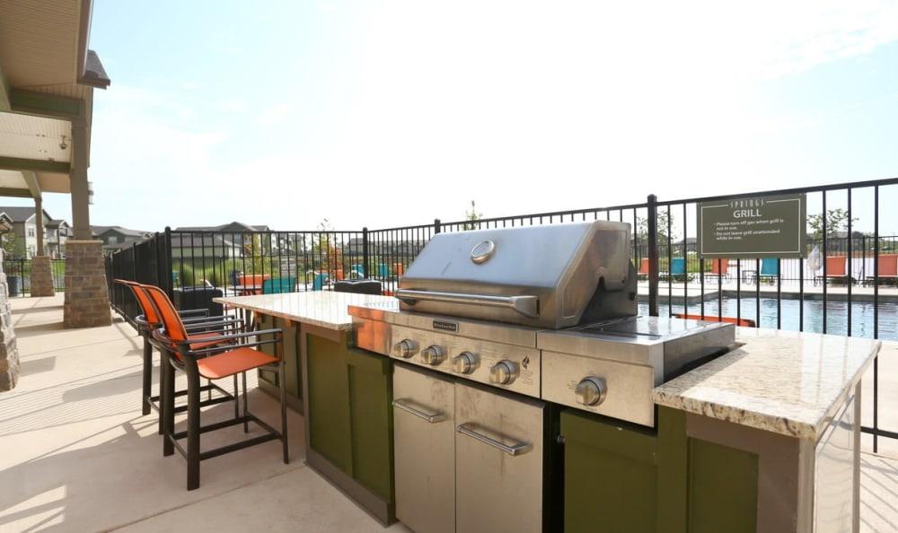 community grill at Springs at May Lakes in Oklahoma City, OK